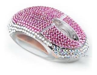 Mouse Diamante Rosa Óptico Pink Raton Alambrico Satzuma