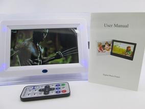 Porta Retrato Digital 7 Polegadas Controle Usb Sd Card Nf-e