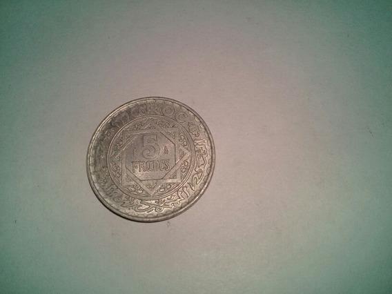 Moneda 5 Francos Marruecos 1951 Sin Circular