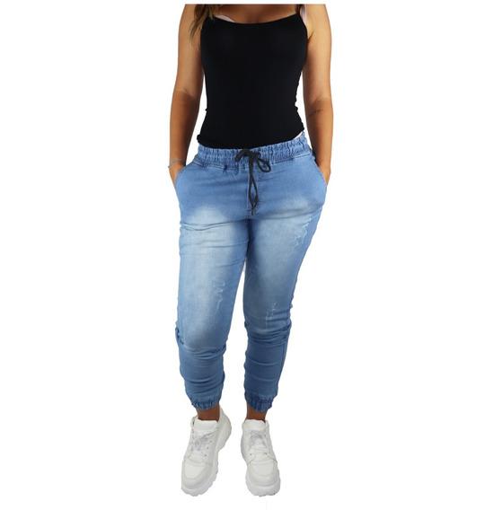 Kit 2 Calças Jeans Feminina Jogger Com Punho Elástico 2019