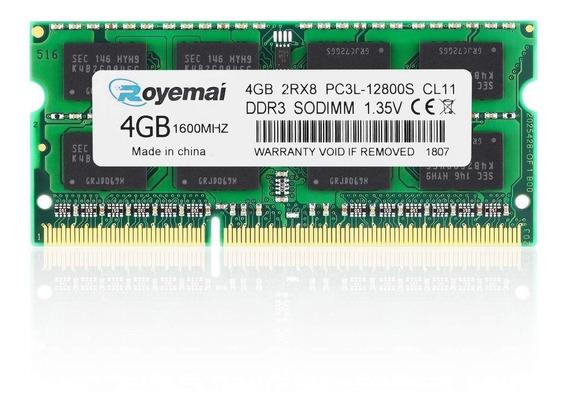 Memória 4gb Ddr3l 1600mhz Pc3l 12800 Notebook 1,35v 16chips