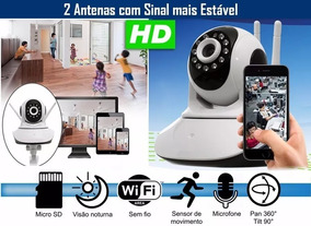Camera Ip Noturna Ir Wifi Hd Iphone Android Babá Eletronica
