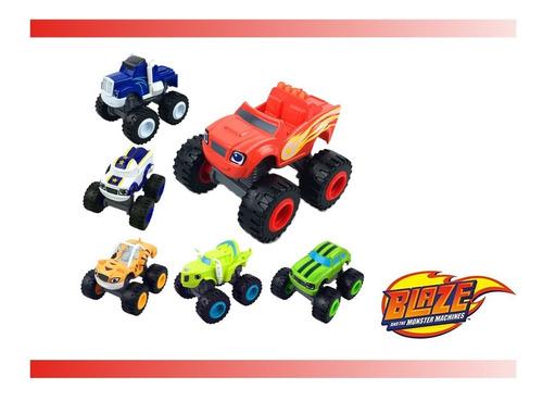 Blaze Monster Machines Kit Com 6 Carrinhos Fricção