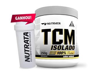 Tcm Puro 100% Isolado 250g + Brinde (coqueteleira) - Nutrata