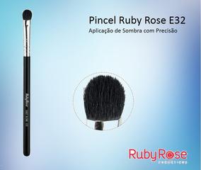 10 Pincel Ruby Exact Blend E32 - Sombra Kit Com 10 Atacado