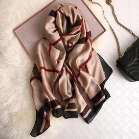Pañuelos De Seda Estilo Louis Vuitton, Gucci, Burberry