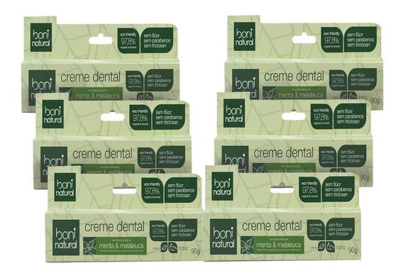 Kit C/ 6 Creme Dental Boni Natural Menta E Melaleuca 90g