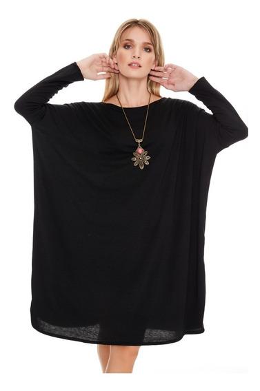 Remera Remeron Vestido Largo Mujer Modal C Lycra Memoriacero