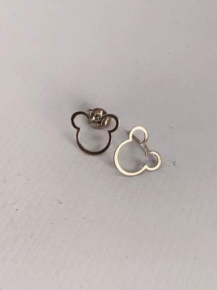 Brinco Feminino Mickey Em Prata 925 - Coleção Disney