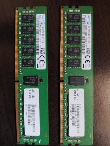 Memória Ddr4 Ecc Samsung 32gb (2x16gb) Servidor Cisco C240