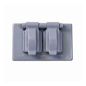 Placa Plástico Para Intemperie Para Contacto Dúplex Surtek 1