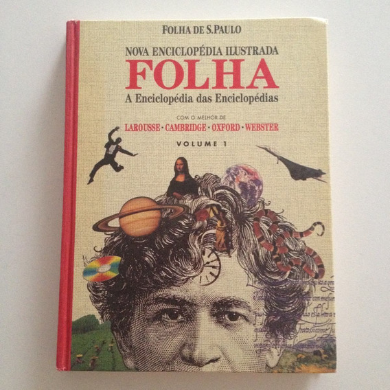 Livro Nova Enciclopédia Ilustrada Folha Vol1 Folha De Sp C2