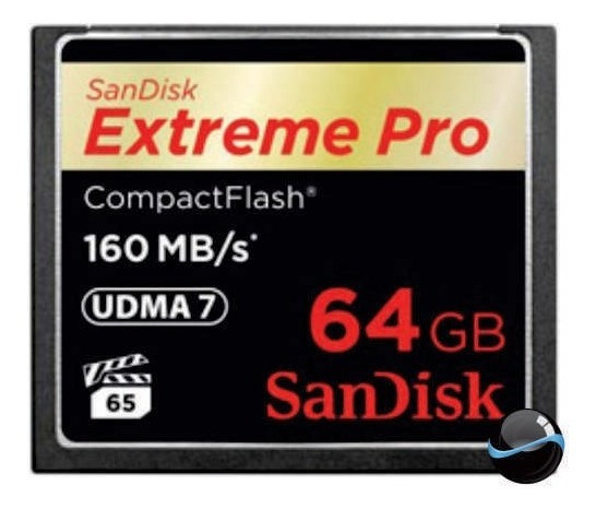 Cartão Mem Compact Flash Cf 64gb Sandisk Extreme Pro 160mb/s