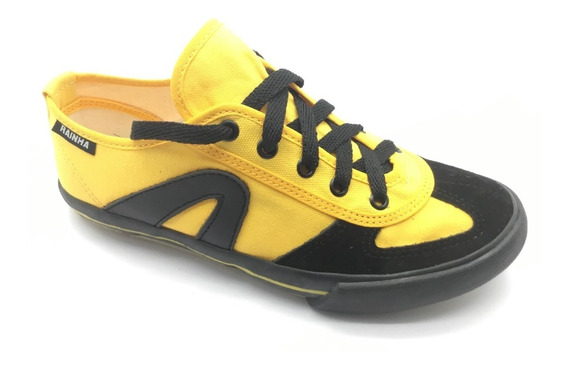Tênis Amarelo Rainha Vl 2500 Vôlei Futsal Capoeira