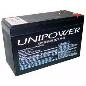 Bateria 12v 7a Alarme/cerca Elétrica Unipower