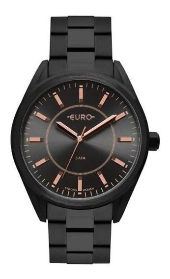 Relógio Euro Feminino Strong Spikes Preto Fosco Eu2035ypy/4p