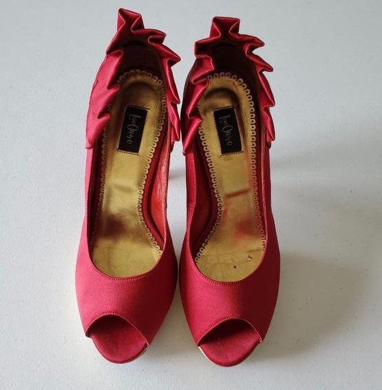 Zapatos Stilettos De Fiesta Las Oreiro Modelo Gaynor 38 !!