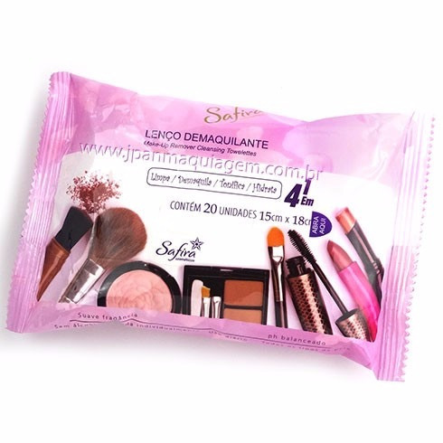2 Lenço Demaquilante Facial Removedor De Maquiagem