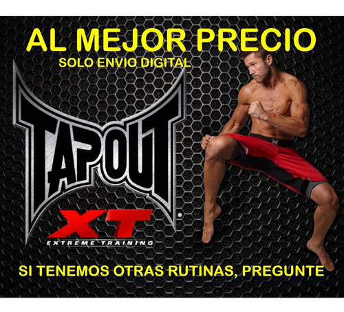 Tapout Xt Rutina Fitness Ejercicios Sin Pesas Gym En Casa