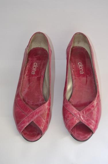 Zapatos Clona - Taco Chino - Color Fucsia - Leer Publicacio