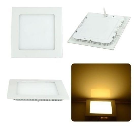 Kit 4 Painel Plafon Luminaria Led Embutir Ultra Slim 24w