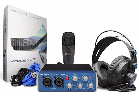 Presonus Audiobox Studio 96 Interface De Áudio Usb Mic Fone