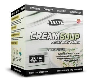 Cream Soup 10 Sobres Pulver Sopa Proteica Sin Tacc