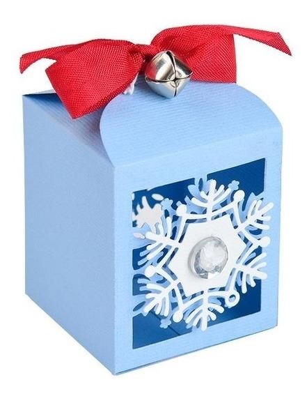 Scrapbooking Troqueles Sizzix Snowflake Favor Box Caja