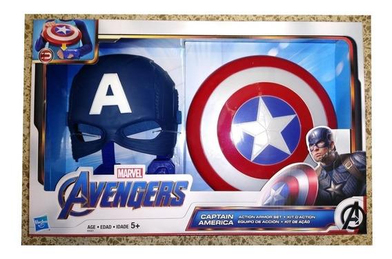 Set Escudo Guante Magnetico Y Mascara Capitan America Hasbro