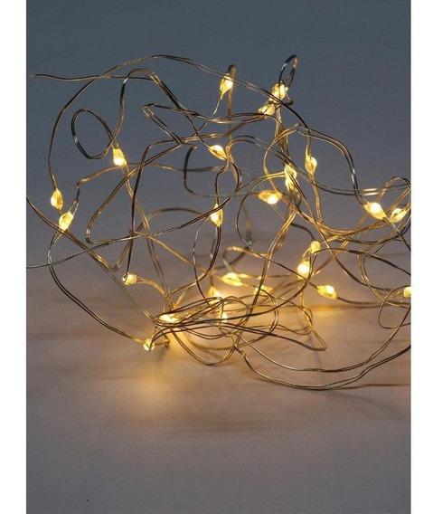 Cordão Luminoso Led Arame Estático Luz Amarela - Taschibra