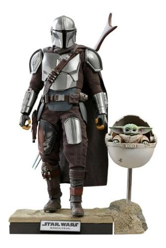 Imagen 1 de 6 de Hot Toys Mandalorian & Child Deluxe Baby Yoda Grogu Sellado