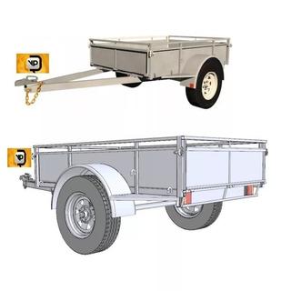 Projeto Trailer 6x4 Auto Car Truck