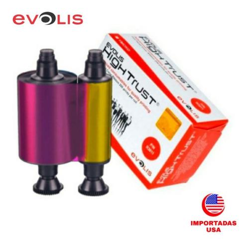 Cinta R3011 Evolis Color 200 Impresiones Pebble Dualys Pvc