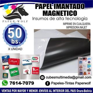 Papel Imantado Magnetico A4 260grs
