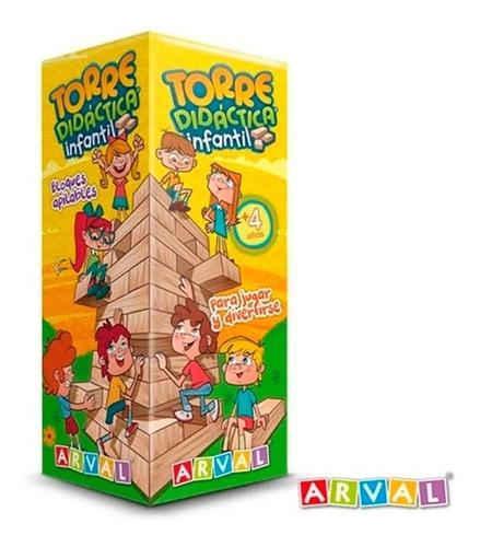 Jenga Torre Didáctica Infantil 115 Envio Full