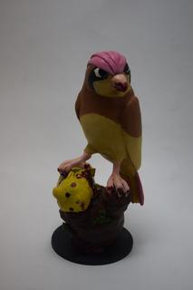 Pidgeotto Comiendo Pikachu -pokemon-