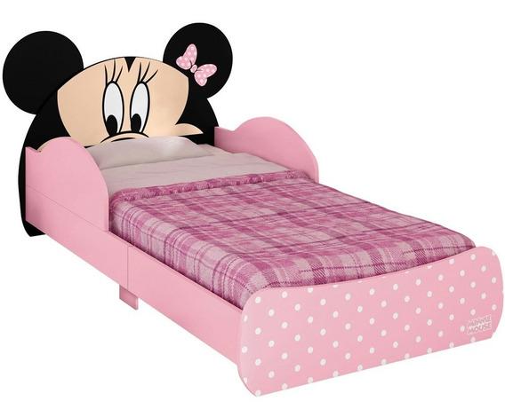 Mini Cama Infantil Minnie Disney Rosa Pura Magia