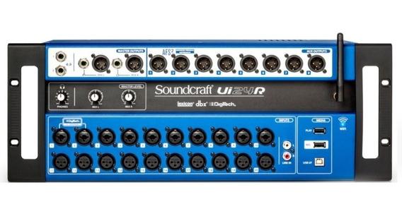 Mesa Digital Soundcraft Ui24r Nf-e 1ano Garantia Ui 24r