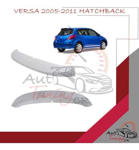 Imagen 1 de 1 de Coleta Spoiler Compuerta Trasera Nissan Versa 2005-2011 Hb