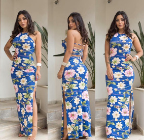 143c53fb41 Vestidos Longos Abertos Na Perna Listrado - Vestidos Casuais Longos ...