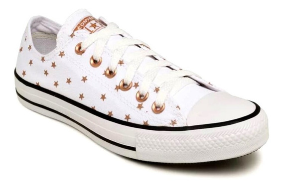 Tênis Converse All Star Feminino Star Branco/rose Gold Ct11