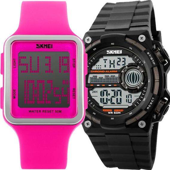 Kit Relógio Feminino E Masculino Skmei Barato Kit50675035