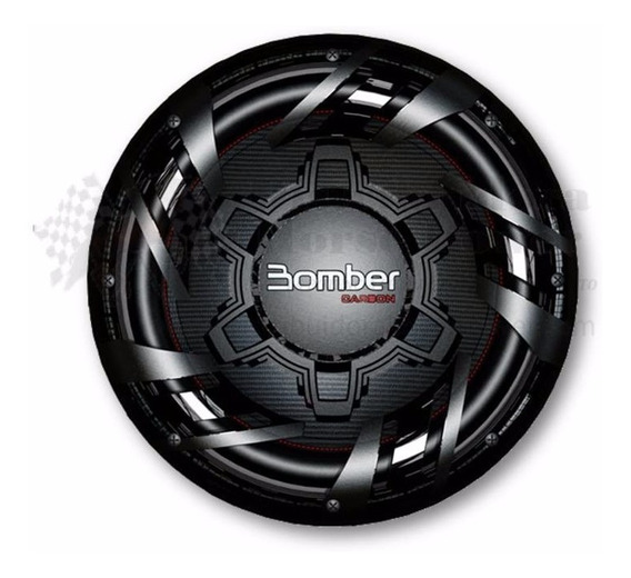 Subwoofer Bomber 12 250rms Carbon Bobina 4 Ohms Oferta!!
