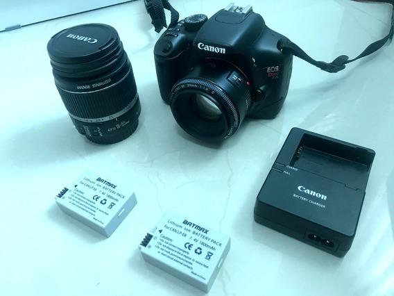 Canon Eos Rebel T2i + 2 Lente + 2 Baterias + Brindes