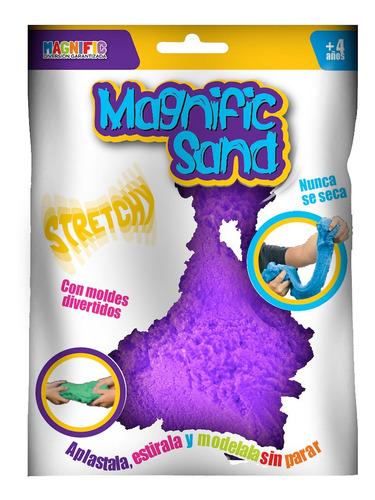Imagen 1 de 7 de Arena Kinetica Magica Magnific Sand Purpura Con Moldes