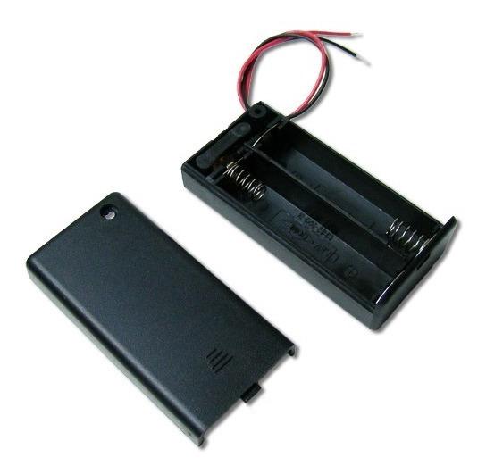 Porta Pilas Aa Porta Pila 2 Pilas Aa 3x1 Arduino Electronica