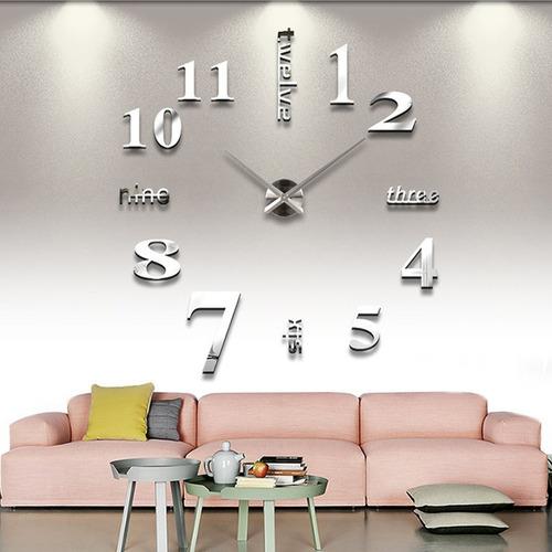 Reloj De Pared Con Diseño 3d Blanco