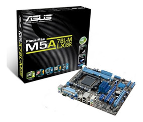 Placa-mãe Asus Am3+ M5a78l-m Lx/br 2ddr3 Matx Vga, Pcie X16