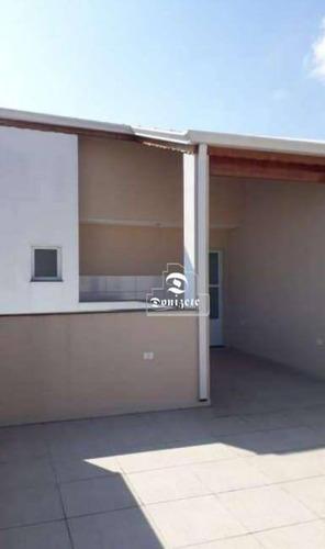 Cobertura Com 2 Dormitórios À Venda, 90 M² Por R$ 318.000,00 - Vila Pires - Santo André/sp - Co11334