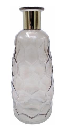 Florero Botellon Ambar Moderno Vidrio Deco Oferta Ult Unid